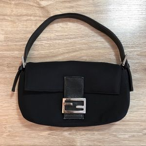 Vintage Fendi Black Baguette Bag